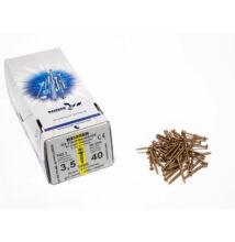 Reisser facsavar 3,5x40mm Sárgított acél tövigmenetes 1000db/doboz