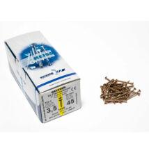 Reisser facsavar 3,5x45mm Sárgított acél tövigmenetes 1000db/doboz