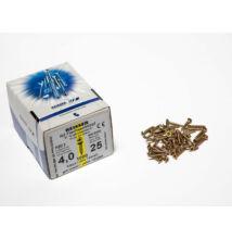 Forest Reisser facsavar 4x25mm Sárgított acél tövigmenetes 1000db/doboz 10007110320