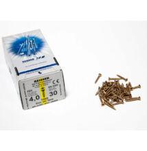 FACSAVAR REISSER 4x30mm ACÉL, SÁRGÍTOTT, TÖVIGMENETES 1000db/doboz