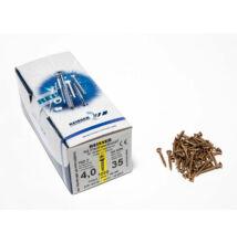 Reisser facsavar 4x35mm Sárgított acél tövigmenetes 1000db/doboz