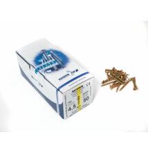 Forest Reisser facsavar 4,5x50mm Sárgított acél tövigmenetes 500db/doboz 10007110435