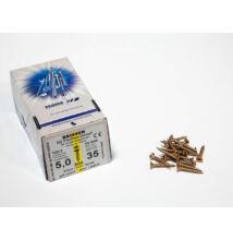 Forest Reisser facsavar 5x35mm Sárgított acél tövigmenetes 500db/doboz 10007110515