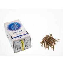 Forest Reisser facsavar 5x60mm Sárgított acél tövigmenetes 200db/doboz 10007110540