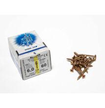 Reisser facsavar 6x60mm Sárgított acél tövigmenetes 100db/doboz