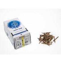 Reisser facsavar 4x50mm Sárgított acél részmenetes 500db/doboz