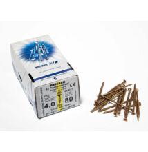 Reisser facsavar 4x80mm Sárgított acél részmenetes 200db/doboz