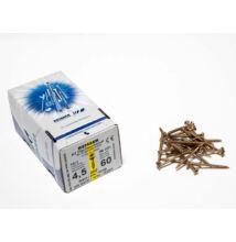 Reisser facsavar 4,5x60mm Sárgított acél részmenetes 200db/doboz