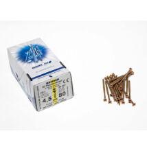 Reisser facsavar 4,5x80mm Sárgított acél részmenetes 200db/doboz