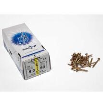 Forest Reisser facsavar 5x50mm Sárgított acél részmenetes 500db/doboz 10007111510
