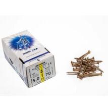 FACSAVAR REISSER 5x70mm ACÉL, SÁRGÍTOTT, RÉSZMENETES 200db/doboz