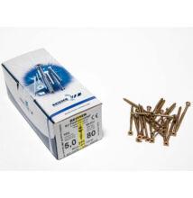 Reisser facsavar 5x80mm Sárgított acél részmenetes 200db/doboz