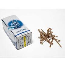 Reisser facsavar 5x90mm Sárgított acél részmenetes 200db/doboz