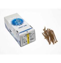 Reisser facsavar 5x100mm Sárgított acél részmenetes 200db/doboz