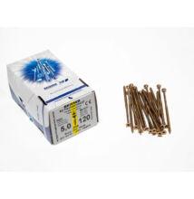 Reisser facsavar 5x120mm Sárgított acél részmenetes 200db/doboz