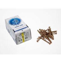 Reisser facsavar 6x90mm Sárgított acél részmenetes 100db/doboz