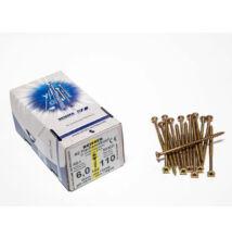 Reisser facsavar 6x110mm Sárgított acél részmenetes 100db/doboz