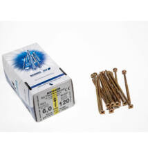 Forest Reisser facsavar 6x120mm Sárgított acél részmenetes 100db/doboz 10007111630