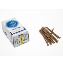 Reisser facsavar 6x130mm Sárgított acél részmenetes 100db/doboz
