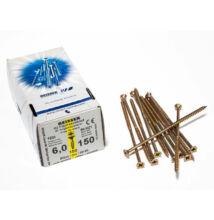 Forest Reisser facsavar 6x150mm Sárgított acél részmenetes 100db/doboz 10007111645