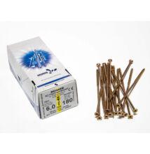 Forest Reisser facsavar 6x180mm Sárgított acél részmenetes 100db/doboz 10007111655