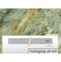 Forest 4851 GL Zöld márvány munkalap4200x600x28mm 10012505080