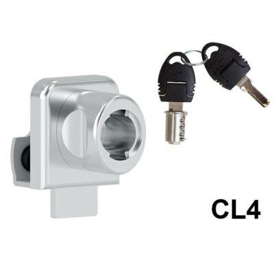 Forest 624-CL4 Egyajtós furás nélküli üvegajtózár+zárlemez 10003232010