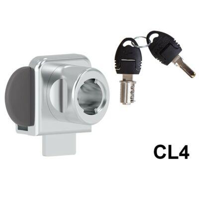Forest 625-CL4 Kétajtós furás nélküli üvegajtózár+zárlemez 10003232110