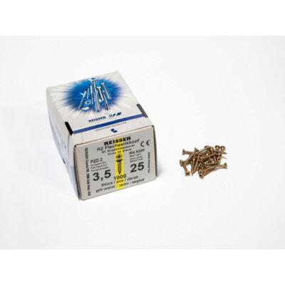 Forest Reisser facsavar 3,5x25mm Sárgított acél tövigmenetes 1000db/doboz 10007110220