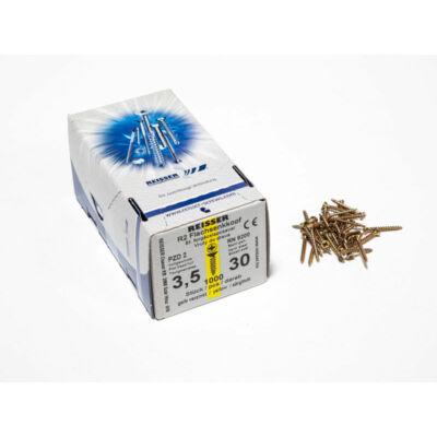 Forest Reisser facsavar 3,5x30mm Sárgított acél tövigmenetes 1000db/doboz 10007110225