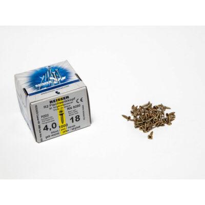 Forest Reisser facsavar 4x18mm Sárgított acél tövigmenetes 1000db/doboz 10007110310