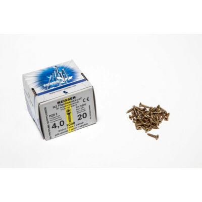 Forest Reisser facsavar 4x20mm Sárgított acél tövigmenetes 1000db/doboz 10007110315