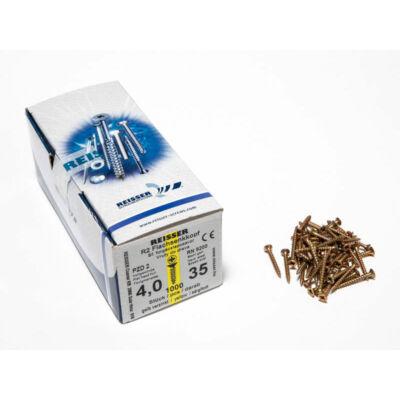 Forest Reisser facsavar 4x35mm Sárgított acél tövigmenetes 1000db/doboz 10007110335