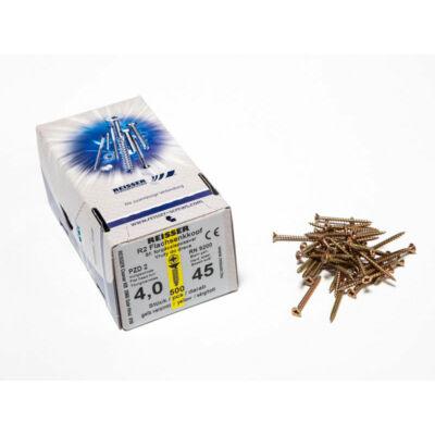 Forest Reisser facsavar 4x45mm Sárgított acél tövigmenetes 500db/doboz 10007110345