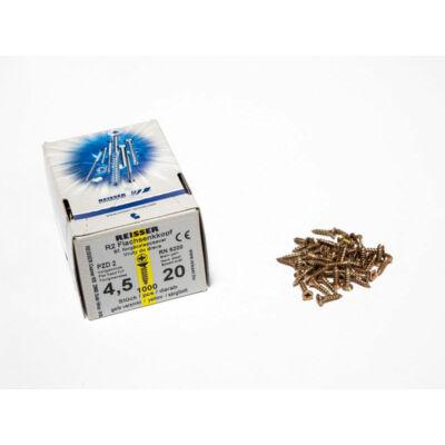 Forest Reisser facsavar 4,5x20mm Sárgított acél tövigmenetes 1000db/doboz 10007110405