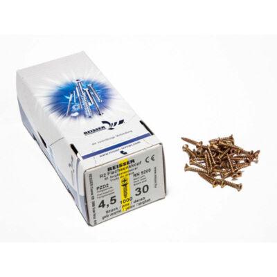 Forest Reisser facsavar 4,5x30mm Sárgított acél tövigmenetes 1000db/doboz 10007110415
