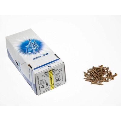 Forest Reisser facsavar 4,5x35mm Sárgított acél tövigmenetes 1000db/doboz 10007110420
