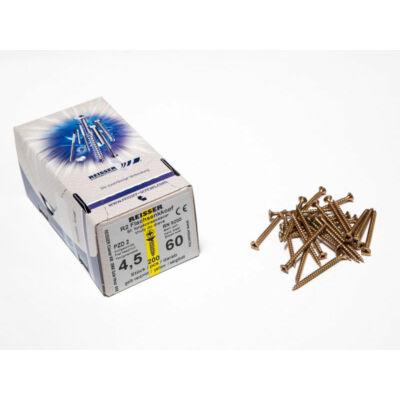 Forest Reisser facsavar 4,5x60mm Sárgított acél tövigmenetes 200db/doboz 10007110445