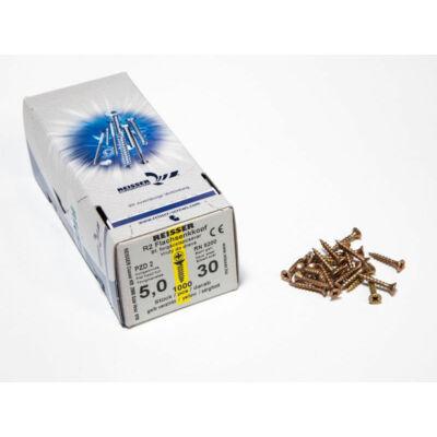Forest Reisser facsavar 5x30mm Sárgított acél tövigmenetes 1000db/doboz 10007110510