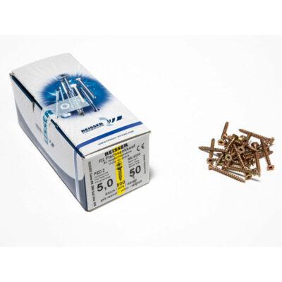 Forest Reisser facsavar 5x50mm Sárgított acél tövigmenetes 500db/doboz 10007110530