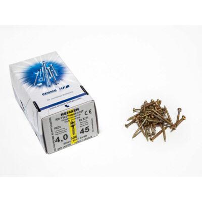 Forest Reisser facsavar 4x45mm Sárgított acél részmenetes 500db/doboz 10007111315