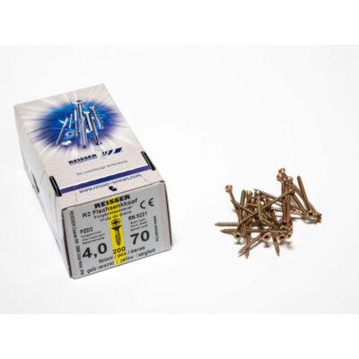 Forest Reisser facsavar 4x70mm Sárgított acél részmenetes 200db/doboz 10007111330
