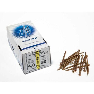 Forest Reisser facsavar 4x80mm Sárgított acél részmenetes 200db/doboz 10007111335