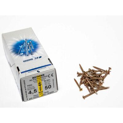 Forest Reisser facsavar 4,5x50mm Sárgított acél részmenetes 500db/doboz 10007111420