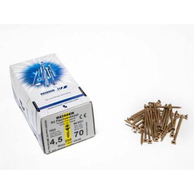 Forest Reisser facsavar 4,5x70mm Sárgított acél részmenetes 200db/doboz 10007111430