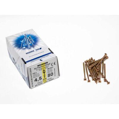 Forest Reisser facsavar 4,5x80mm Sárgított acél részmenetes 200db/doboz 10007111435