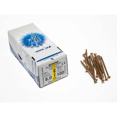Forest Reisser facsavar 5x100mm Sárgított acél részmenetes 200db/doboz 10007111540