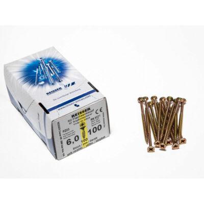 Forest Reisser facsavar 6x100mm Sárgított acél részmenetes 100db/doboz 10007111620
