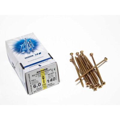 Forest Reisser facsavar 6x140mm Sárgított acél részmenetes 100db/doboz 10007111640