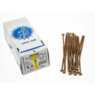 Forest Reisser facsavar 6x200mm Sárgított acél részmenetes 100db/doboz 10007111660